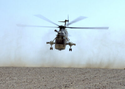 Helicopter filming support in Qatar