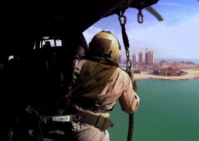 Drone and helicopter film production in Qatar